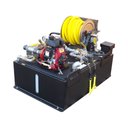 Simple 7 compact fire skid unit for firefighting