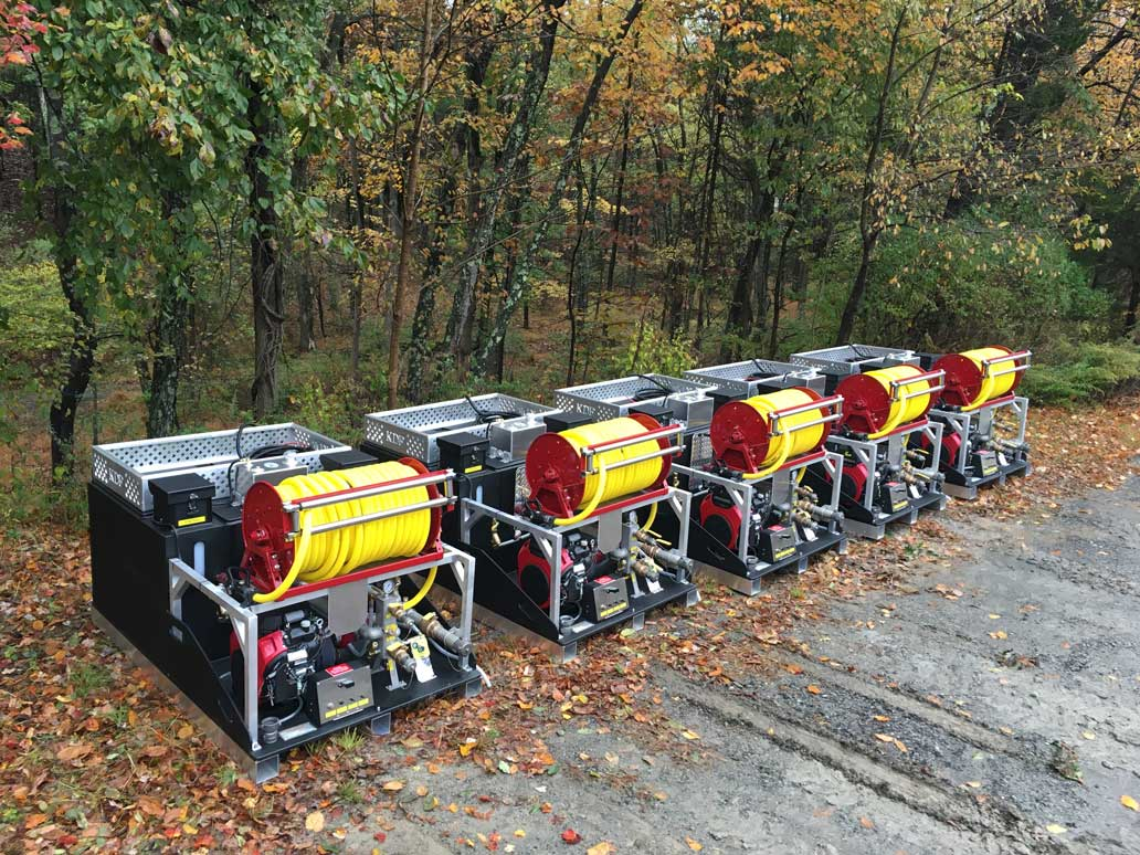 <p><strong>19</strong><br><em>200 gallon/10 foam Prometheus skids delivered to Kentucky Division of Forestry.</em></p>