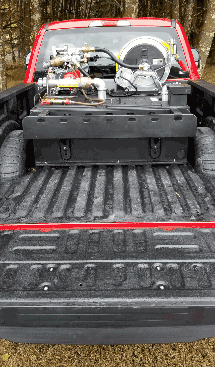 <p><strong>8</strong><br><em>Rear view of Type 7 with optional hose tray.</em></p>