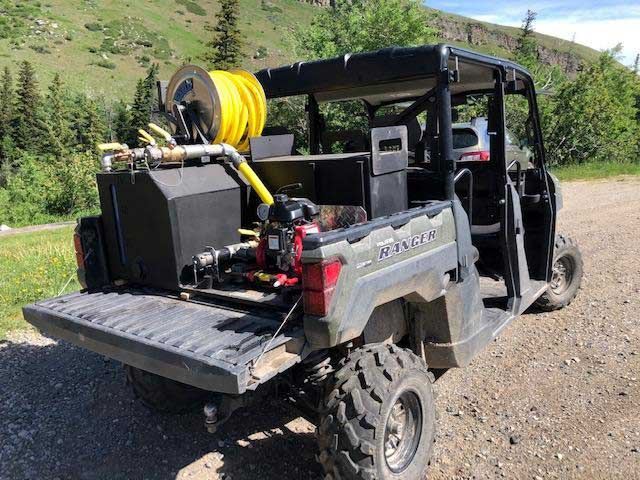 <p><strong>23</strong><br><em>Our 75 gallon L-Type in a Ranger crew on patrol in Montana.</em></p>